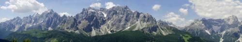 Blick von der Klammbachalm unterhalb des Karnischen Höhenwegs