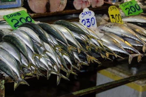 Verkauf von frischen Fischen, Sri Lanka