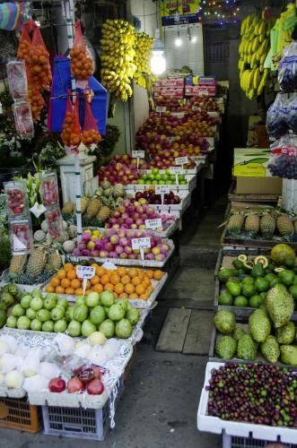 Gemüse, Gewürze und Obst auf den Märkten, Sri Lanka