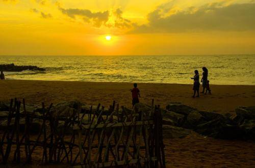 Sonnenuntergang am indischem Ozian