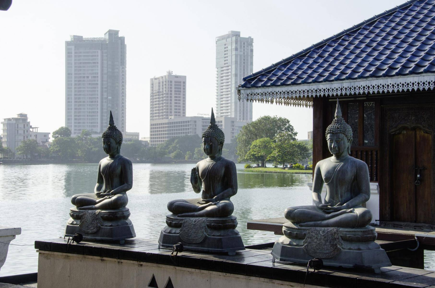 Seema Malaka, ein buddhistischer Tempel in Colombo, Sri Lanka
