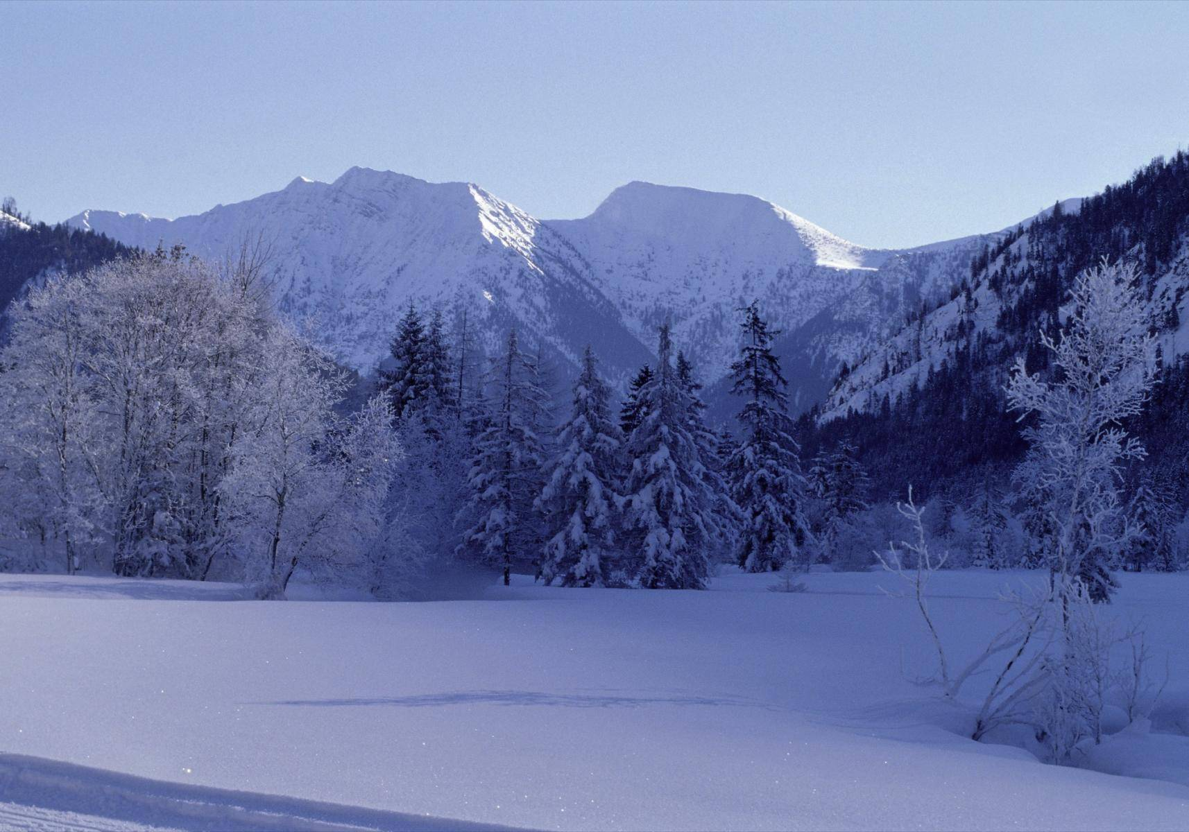 Graswangtal im Winter