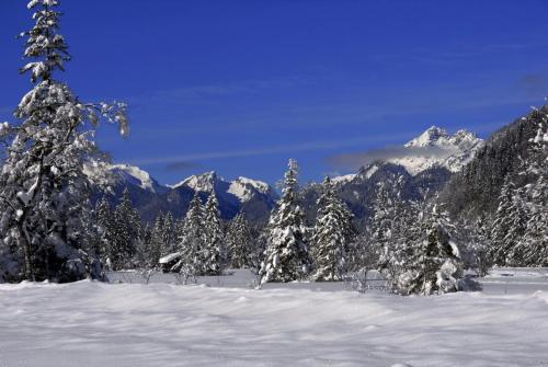 Winter im Geaswangtal Nähe Oberammergau, Bayern