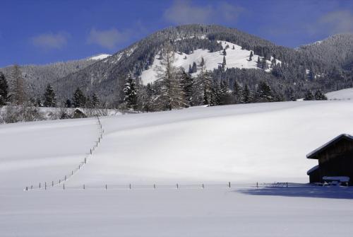 Winter im Ammertal Nähe Unterammergau, Bayern